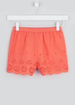 Girls Broderie Shorts (4-13yrs)