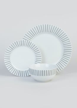 12 Piece Stripe Dining Set