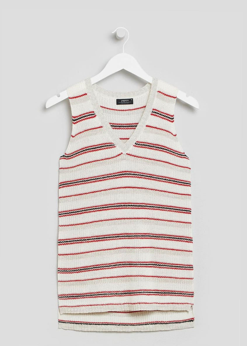 Formal Stripe Knitted Vest