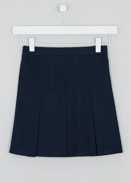 Girls Box Pleat School Skirt (3-13yrs)