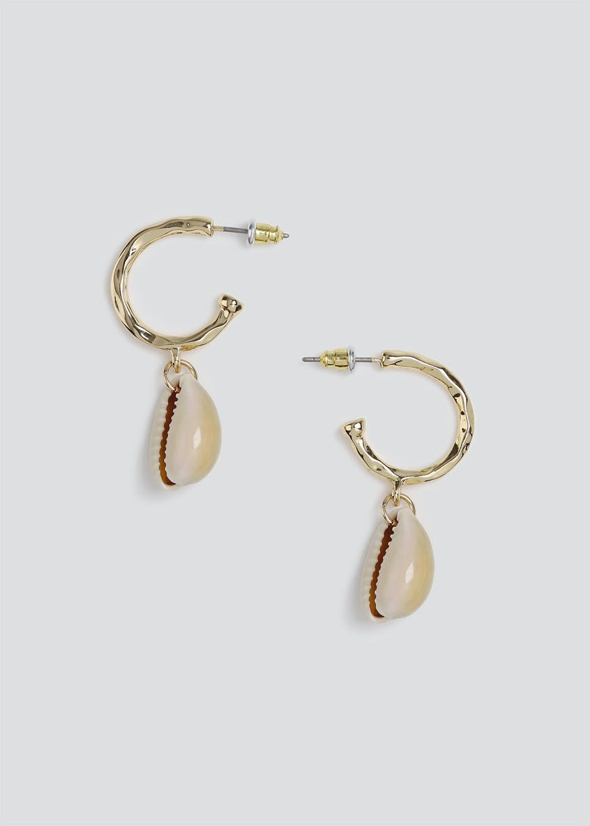 Hoop and Shell Drop Earring