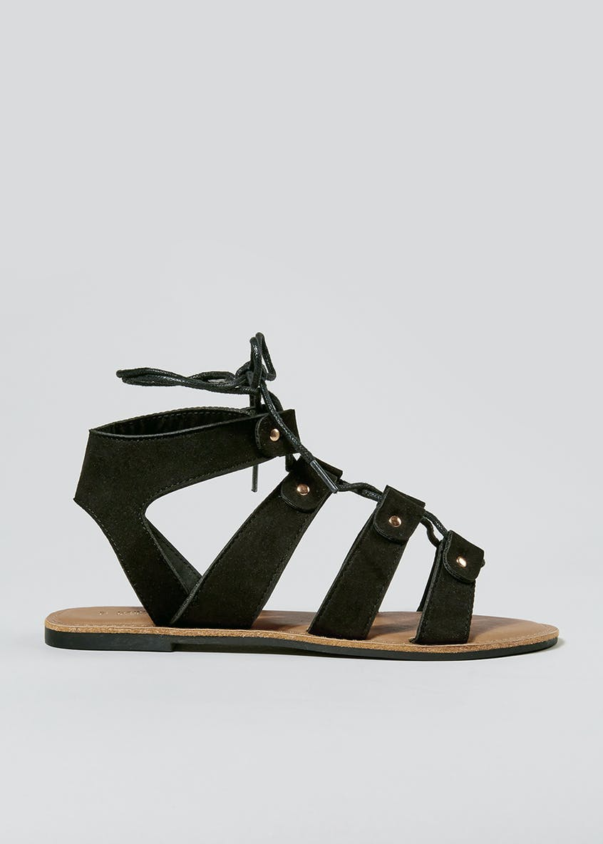 Lace Up Ghillie Gladiator Sandals