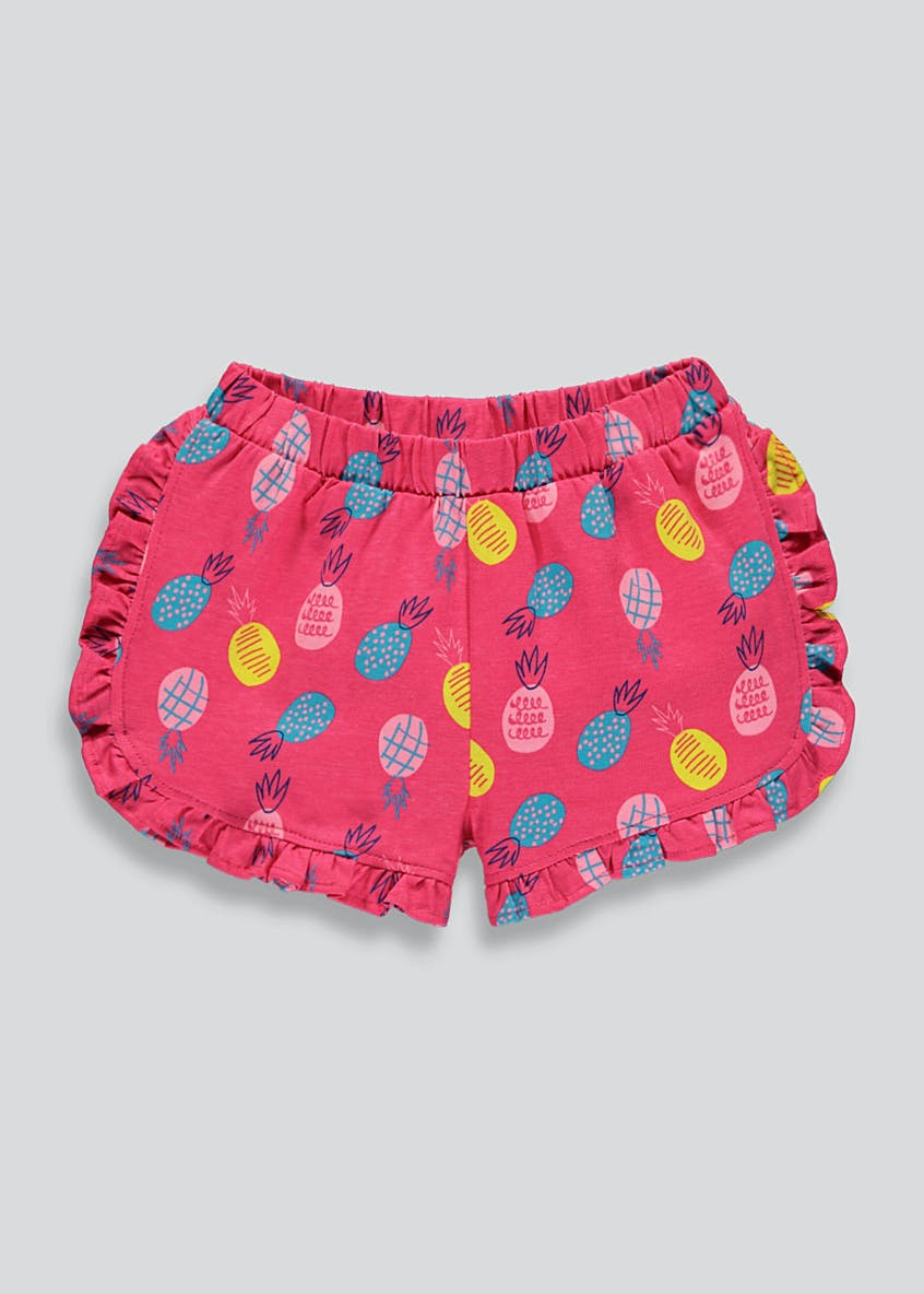 Girls Pineapple Frill Shorts (9mths-6yrs)