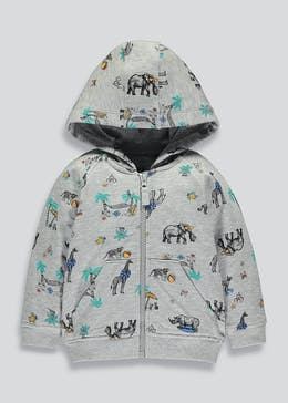 Kids Safari Animal Print Hoodie (9mths-6yrs)