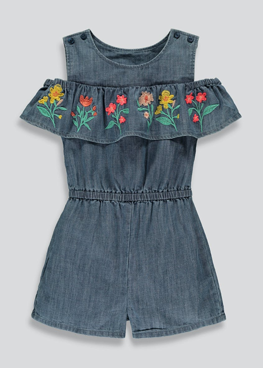 Girls Denim Playsuit (9mths-6yrs)