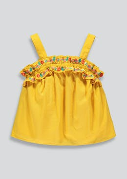Girls Embroidered Top (9mths-6yrs)