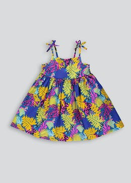 c4842ddc6609 Girls Tropical Print Strappy Sun Dress (9mths-6yrs)