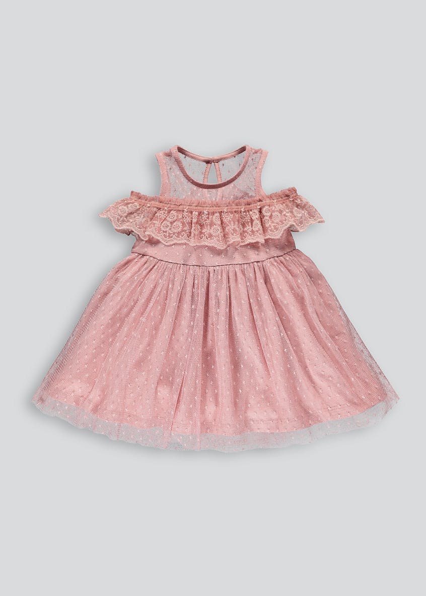 Girls Lace Frill Occasion Dress (9mths-13yrs)