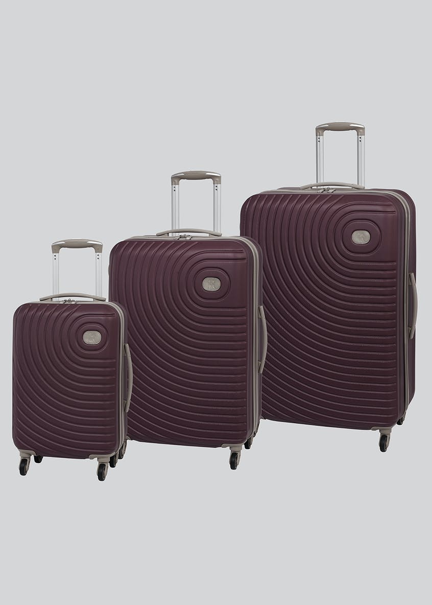 IT Luggage Embossed Circle Hard Suitcase