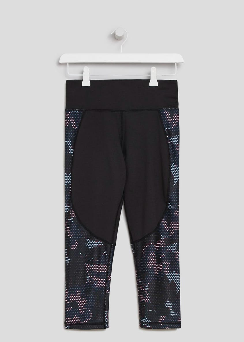 Souluxe Camo Floral Capri Gym Leggings