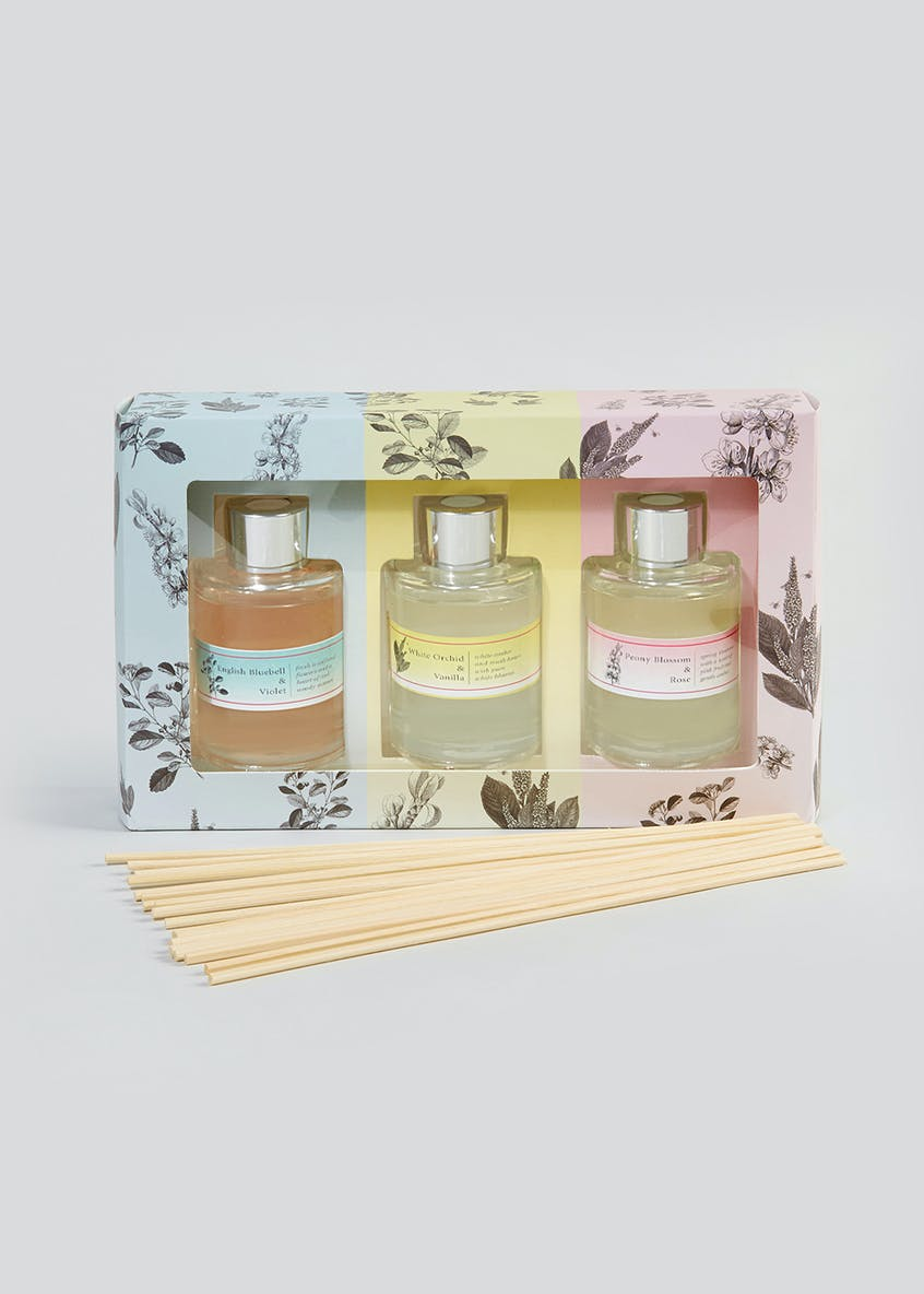 Set of 3 Mini Floral Diffusers (60ml)