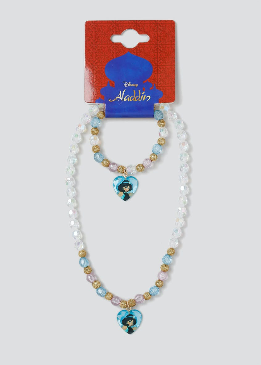Girls Disney Aladdin Necklace and Wristwear Set