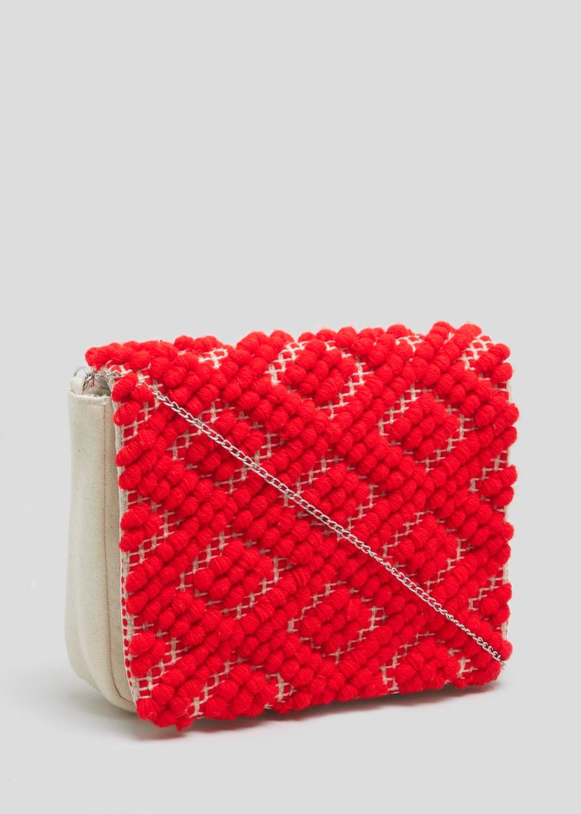 Textured Cross-Body Bag
