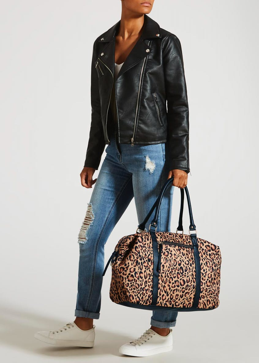 Animal Print Weekend Bag