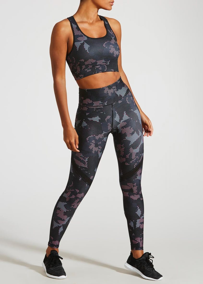 Souluxe Camo Floral Sports Bra