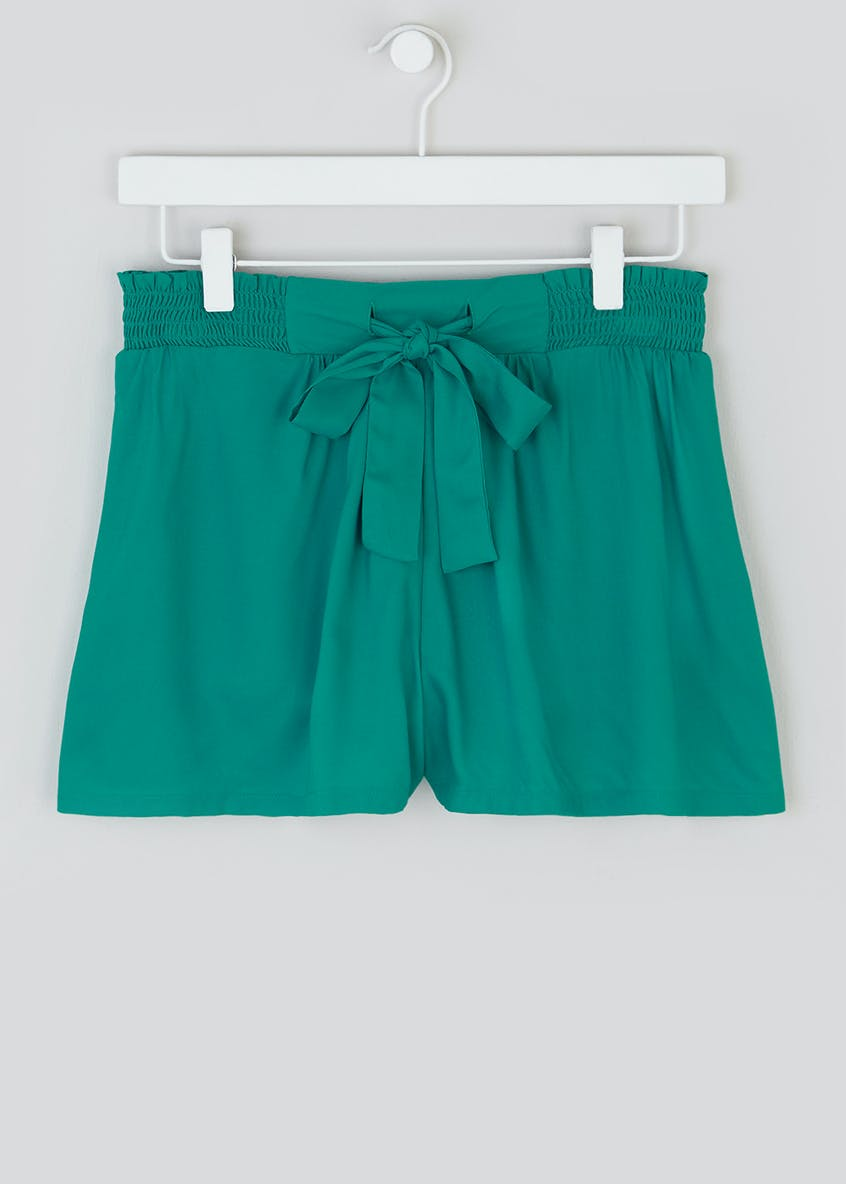 Shirred Waist Shorts