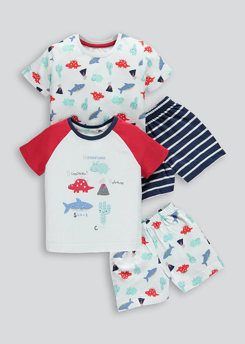 Boys 2 Pack Alphabet Pyjamas (9mths-5yrs)