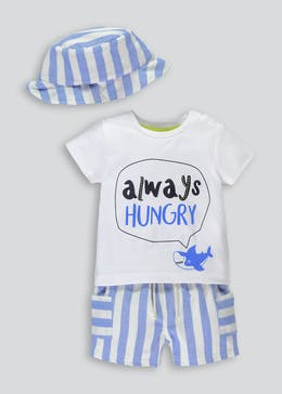Boys Whale Print 3 Piece Set (Newborn-18mths)