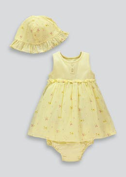 Girls Skirted Body & Hat Set (Newborn-18mths)