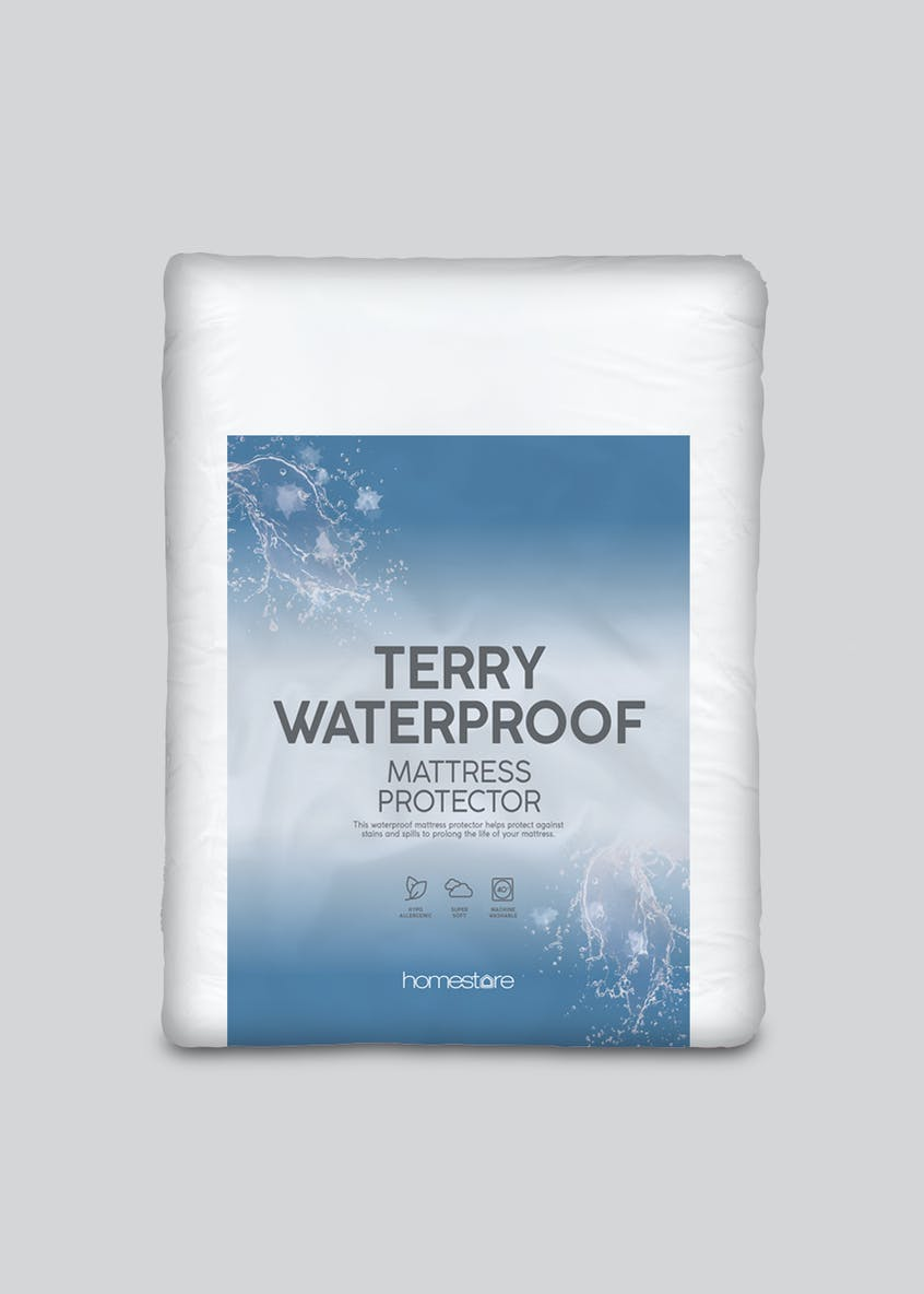 Terry Towelling Waterproof Mattress Protector