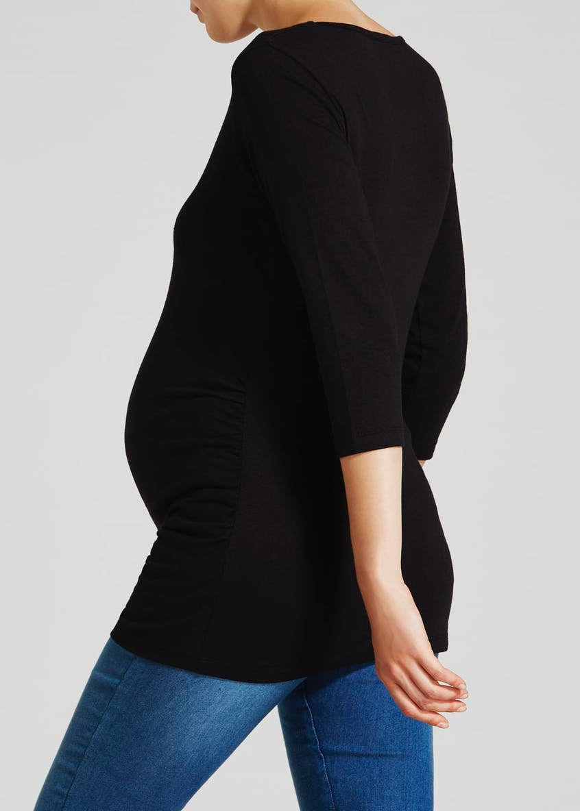 Maternity Ruched Longline Jersey Top