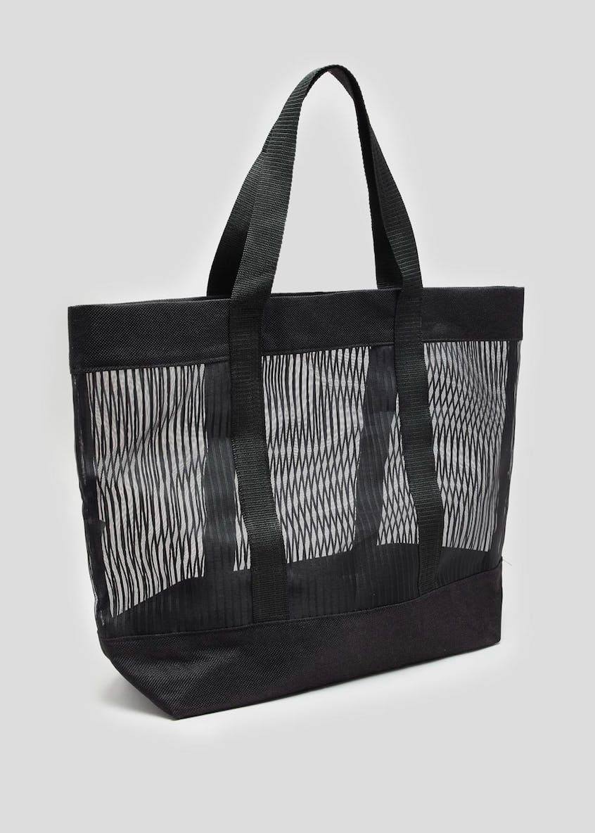 Plain Mesh Beach Bag