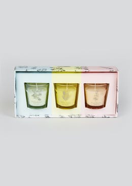 Set of 3 Mini Floral Candles