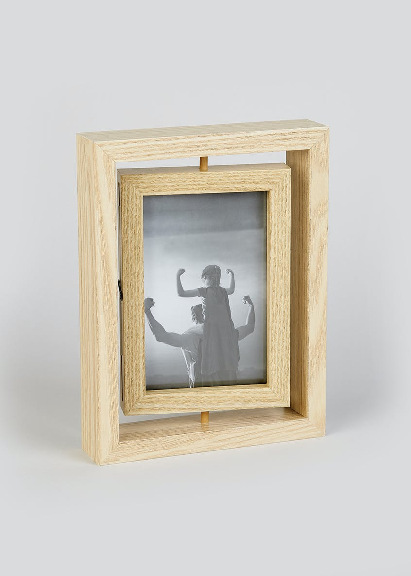 Rotating 2 Aperture Photo Frame (23cm x 17cm x 4cm)