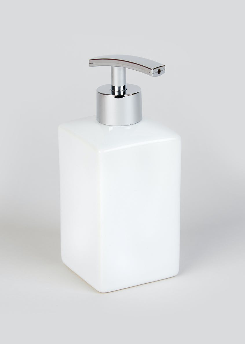 Square Ceramic Soap Dispenser