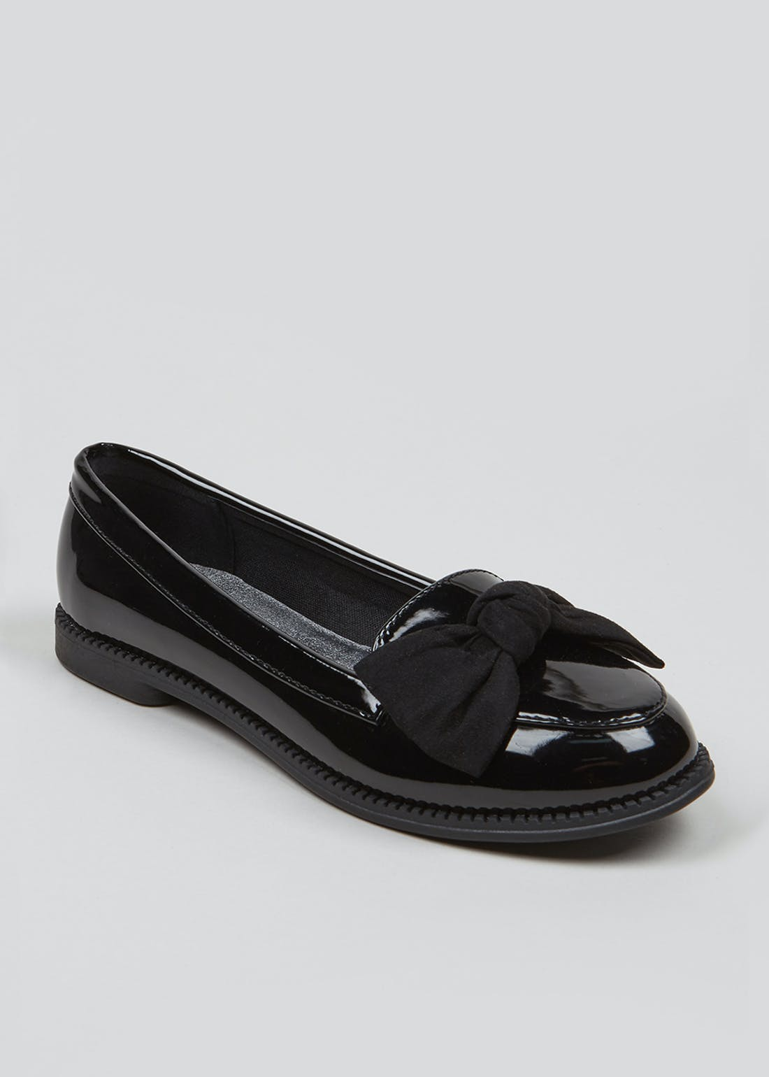 Girls Black Patent Penny Loafers (Younger 10-Older 5)