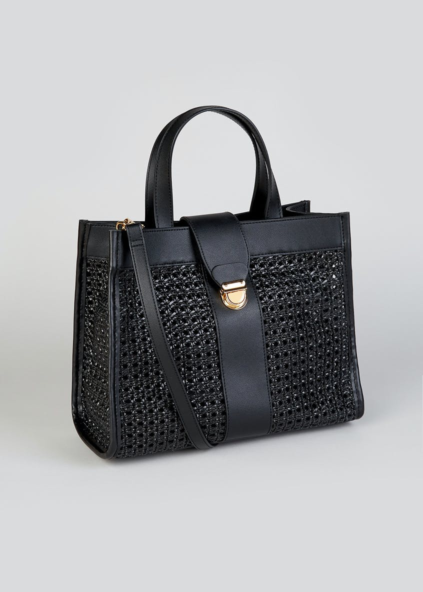 Basket Weave Square Tote Bag