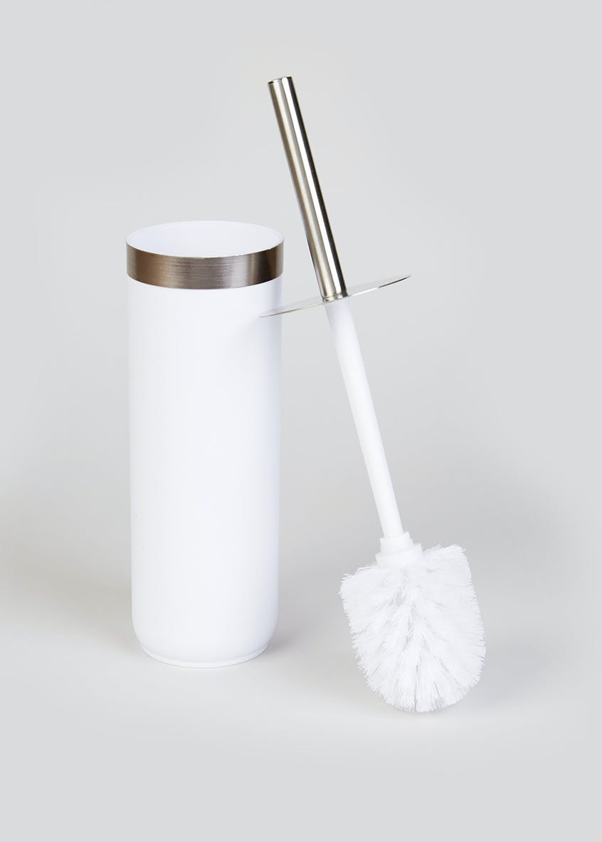 Plastic Toilet Brush & Holder (39cm x 10cm)
