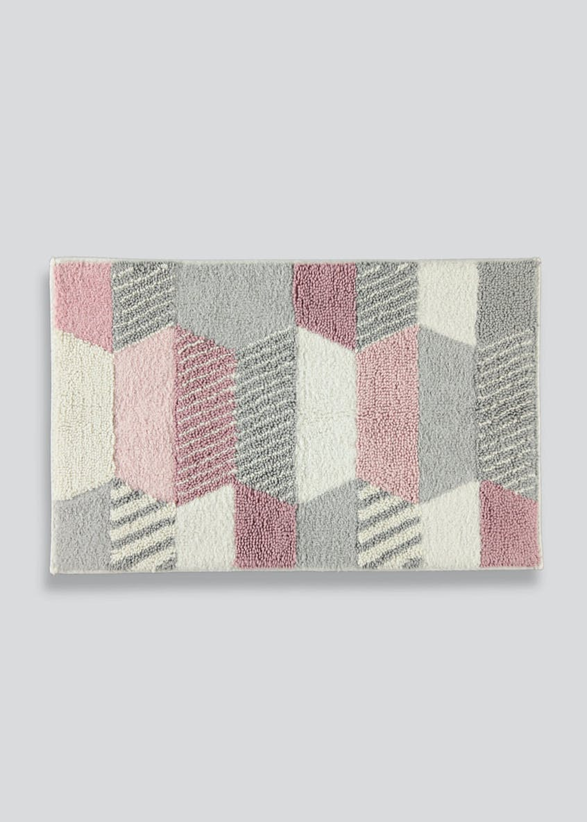 Geometric Tufted Bath Mat