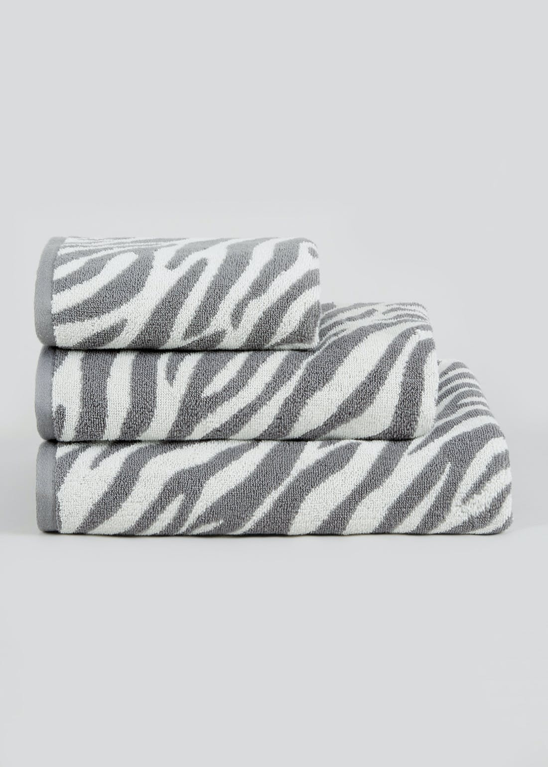 100% Cotton Zebra Print Towels