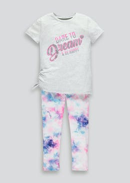 Girls Tie Dye T-Shirt & Leggings Set (4-13yrs)