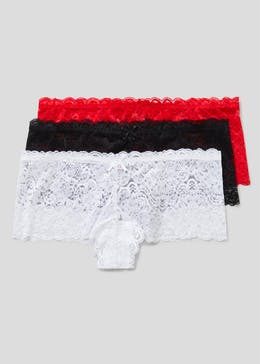 3 Pack Lace French Knickers