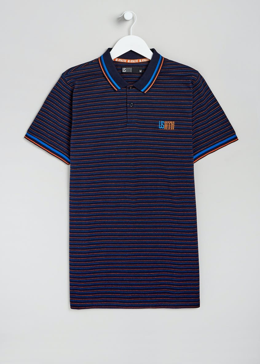 US Athletic Stripe Polo Shirt