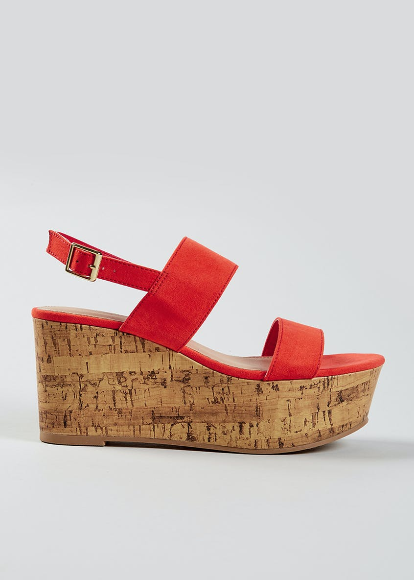 Cork Flatform Wedges