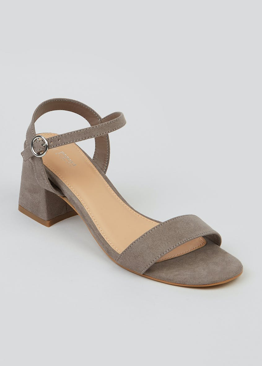 Wide Fit Block Heel Strappy Sandals