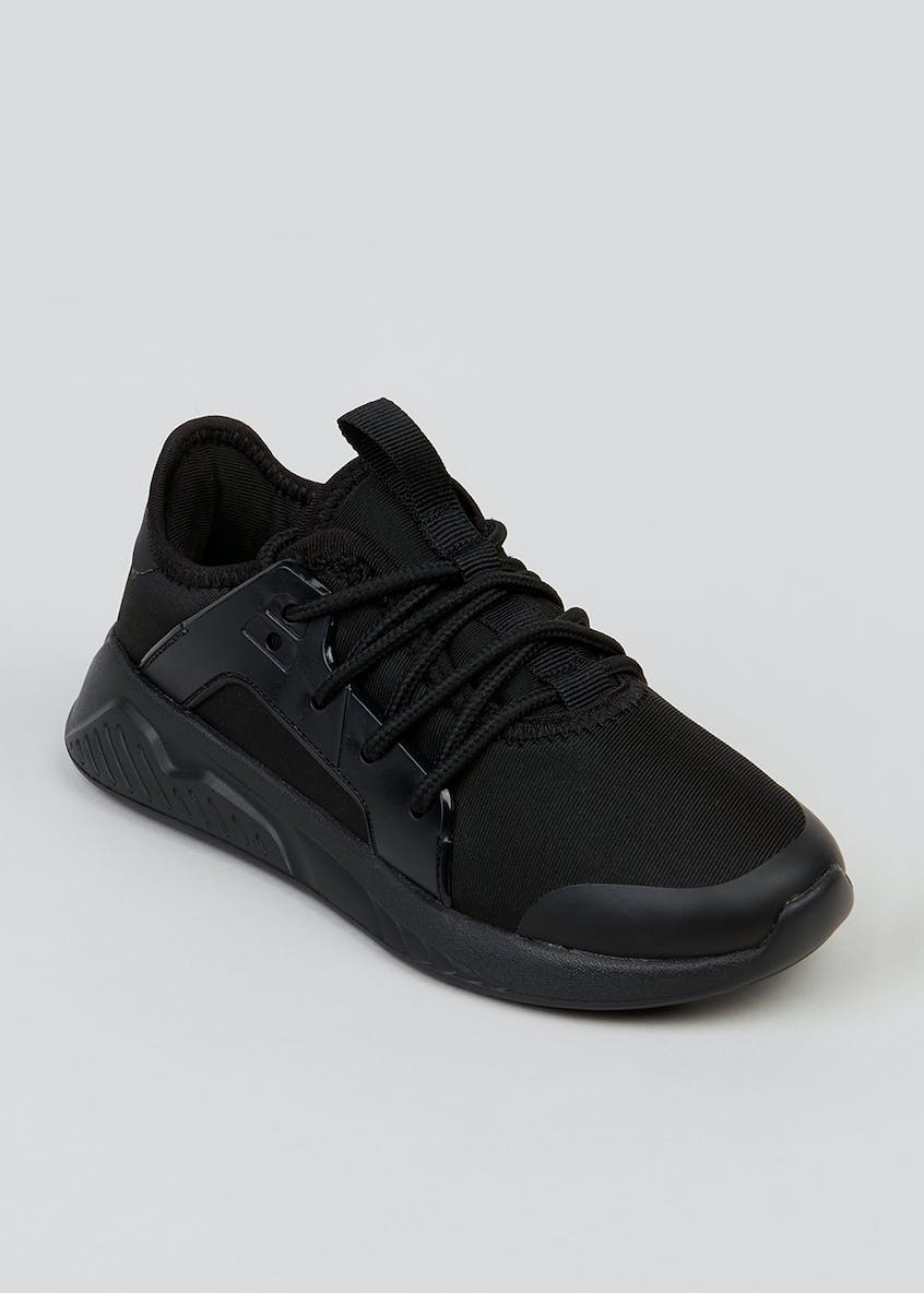Kids Black Lightweight Trainers (Younger 10-Older 6)