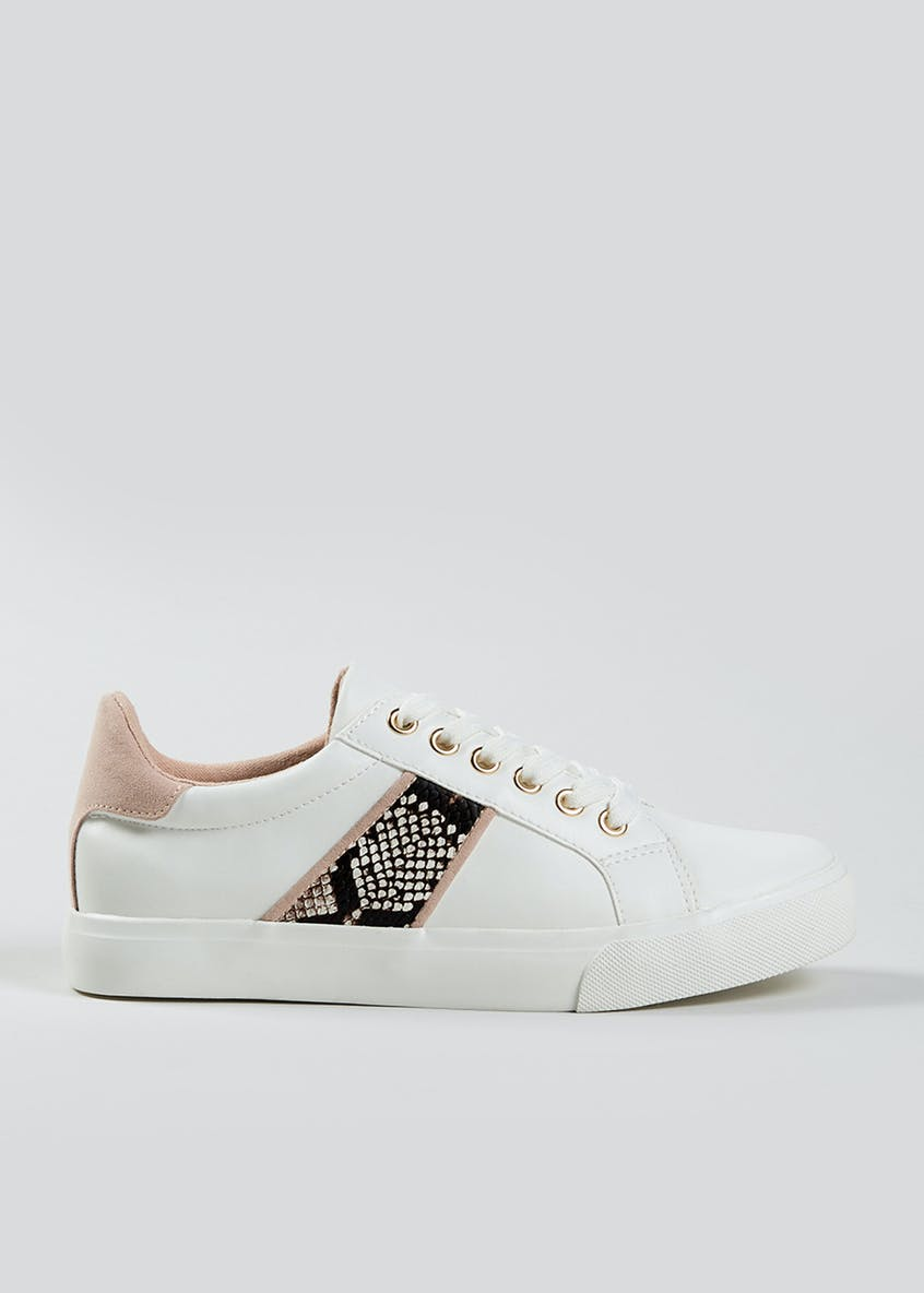 Faux Snake Skin Trainers