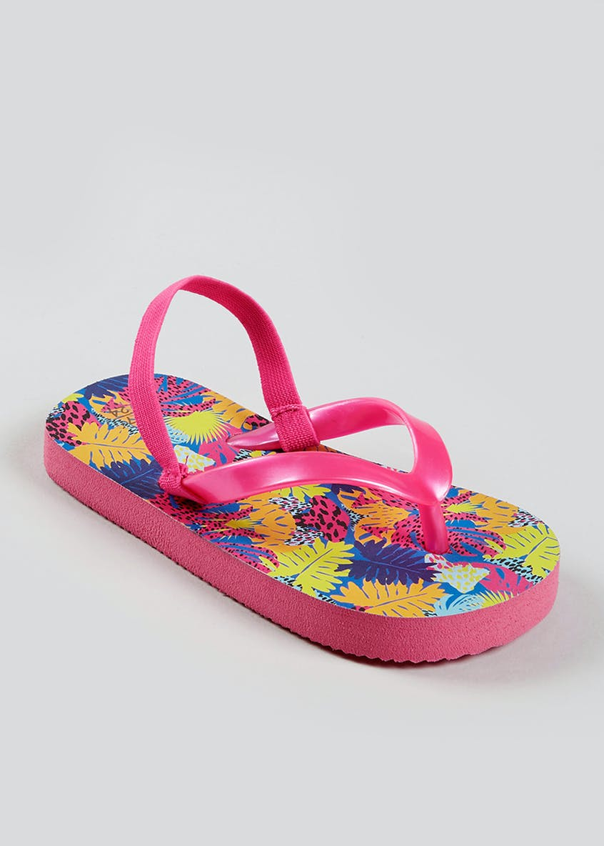 Girls Flower Flip Flops (Younger 4-12)