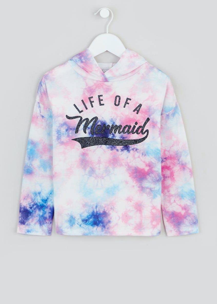 Girls Life of a Mermaid Slogan Hoodie (4-13yrs)