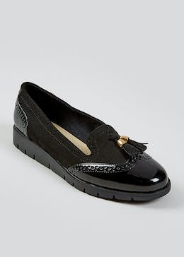 Soleflex Black Tassel Loafers