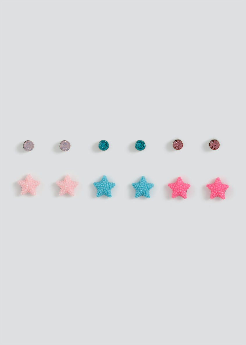 Girls Starfish Stud Earring Pack