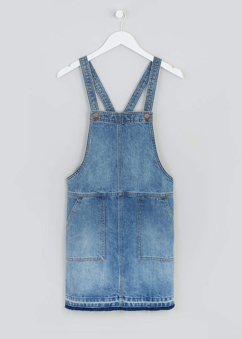 Papaya Petite Denim Pinafore Dress