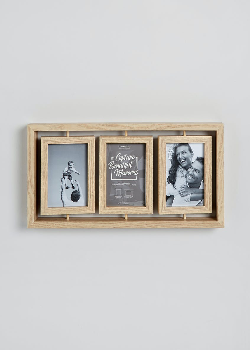 Rotating 6 Aperture Photo Frame (44.5cm x 22.5cm x 4.5cm)