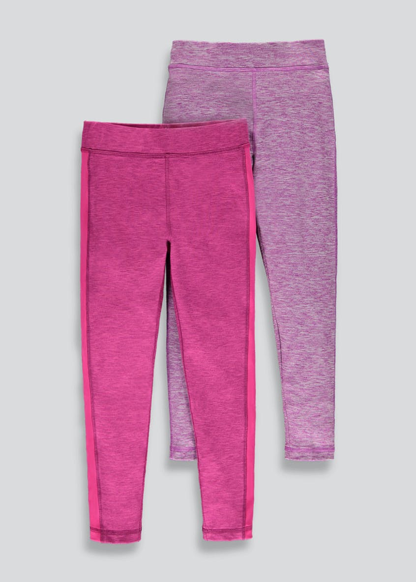 Girls Souluxe 2 Pack Basic Sports Leggings (4-13yrs)