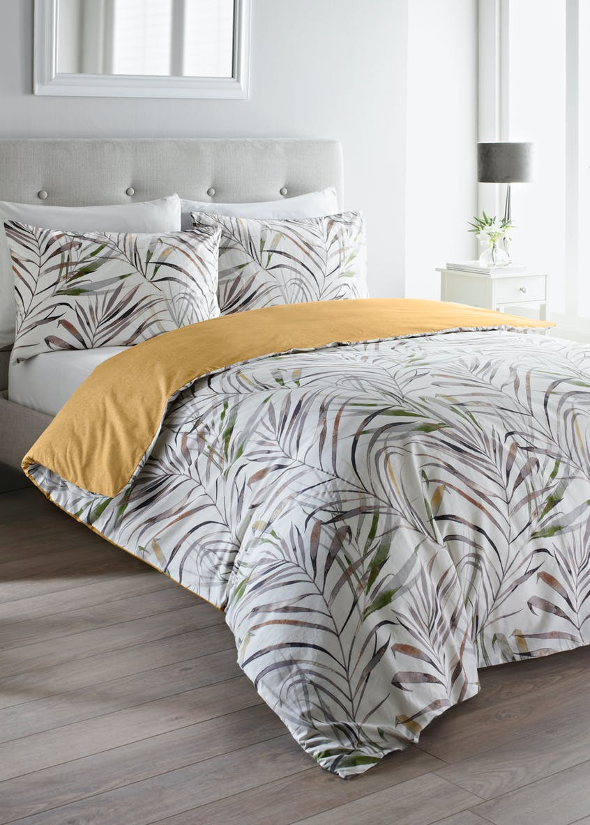 100% Cotton Palm Leaf Duvet Cover