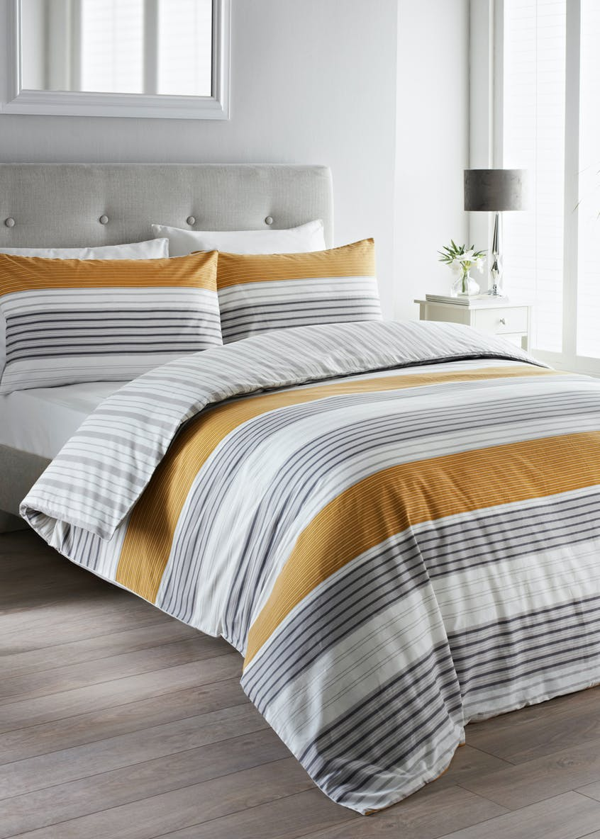 100  Cotton Stripe Duvet Cover